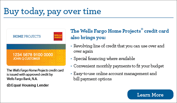Apply for Financing with Wells Fargo